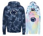 Penn State Tie Dye Logo Hooded Sweatshirt NAVY TIE DYE