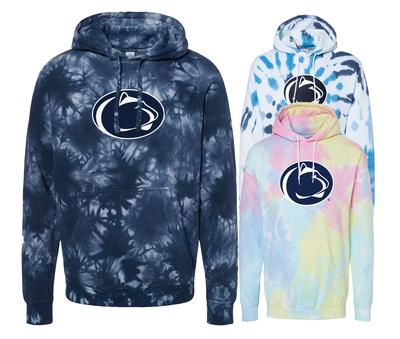 The Family Clothesline - Penn State Tie Dye Logo Hooded Sweatshirt