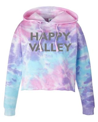 The Family Clothesline - Happy Valley Tie Dye Cropped Hooded Sweatshirt