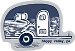 Happy Valley Camper Rugged Sticker