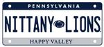 Penn State Rugged License Plate Sticker