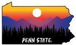 Penn State Rugged Sunset Sticker