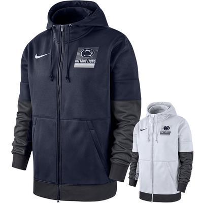 NIKE - Penn State Nike Therma Sideline Full Zip Hooded Sweatshirt
