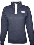 Penn State Women's Quilted Face Off Pullover Jacket NAVY