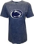 Penn State Women's Mineral Wash Logo T-Shirt NAVY
