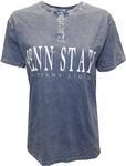 Penn State Women's Mineral Wash Henley T-Shirt NAVY