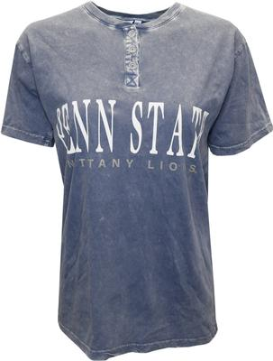 Chicka-D - Penn State Women's Mineral Wash Henley T-Shirt