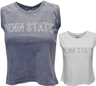 Chicka-D - Penn State Women's Mineral Wash Cropped Tank Top