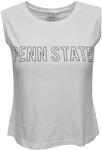 Penn State Women's Mineral Wash Cropped Tank Top WHITE