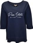 Penn State Women's Waffle Long Sleeve Shirt NAVY