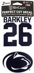Penn State Saquon Barkley 2-Pack Decal NAVYWHITE