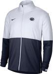 Penn State Nike Men's Woven Full Zip Sideline Jacket WHITENAVY