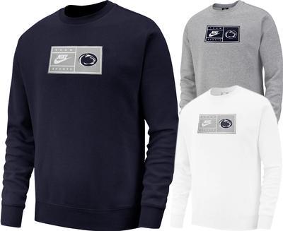 NIKE - Penn State Men's Nike Tag Crewneck Sweatshirt