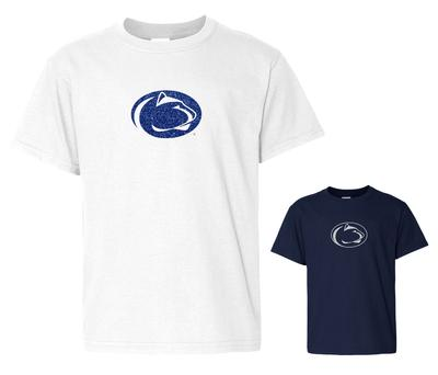 The Family Clothesline - Penn State Youth Sparkle Logo T-shirt