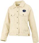 Penn State Women's Yeti Fuzz Jacket IVORY