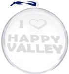 Penn State I Heart Happy Valley Clear Ornament