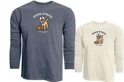 Blue 84 - Penn State Life is Good Football Dog Long Sleeve T-Shirt