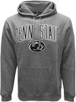 Penn State 3D Logo Arch Hooded Sweatshirt GRAPHITE HTHR