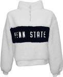 Penn State Women's Teddy Quarter Zip WHITENAVY