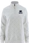 Penn State Champion Women's Reverse Weave Quilted Quarter Zip SILVER GREY