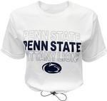 Penn State Women's Toggle Bottom Cropped T-Shirt WHITE