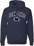 Penn State Arch Logo Hooded Sweatshirt NAVY
