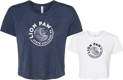 The Family Clothesline - Penn State Women's Cropped Lions Paw T-shirt