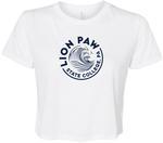 Penn State Women's Cropped Lions Paw T-shirt WHITE