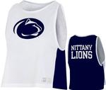 Penn State Under Armour Women's Gameday Pinnie Tank WHITENAVY