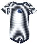 Penn State Infant Striped Short Sleeve Bodysuit