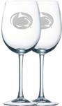 Penn State White Wine 12oz Glass Set