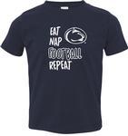 Penn State Toddler Eat Nap Football T-shirt NAVY