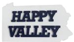 Penn State Happy Valley PA Wooden Magnet