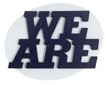 Penn State We Are Oval Wooden Magnet