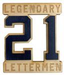 Penn State Legendary Letterman #21 Wooden Magnet