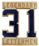 Penn State Legendary Letterman #31 Wooden Magnet
