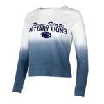 Penn State Women's Dip-Dye Long Sleeve Shirt NAVYWHITE