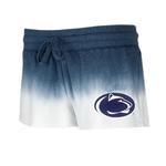 Penn State Women's Dip-Dye Shorts NAVYWHITE