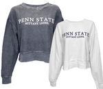 Penn State Women's Boxy Corded Crewneck Sweater