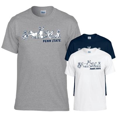 The Family Clothesline - Penn State Tshirt with Tumbling Lion Print
