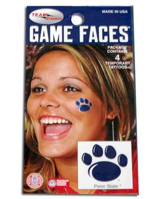Innovative Adhesives - Penn State Paw Temporary Tattoos Set of Four