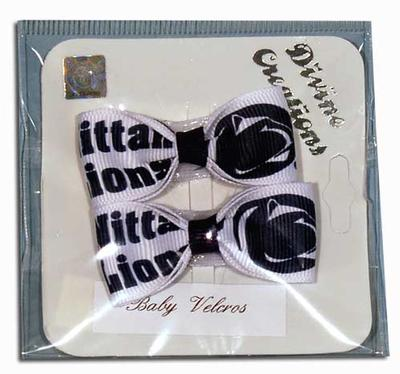 Divine Creations - Nittany Lion and Logo Baby Velcro Tux Bows