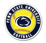 Penn State University Softball Magnet NAVYWHITE