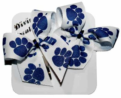 Divine Creations - Penn State Paws 2-pack Snap Clip Bows