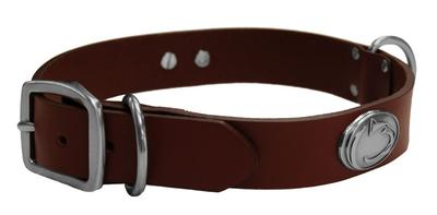 Zeppelin Products - Penn State Solid Leather Concho Collar