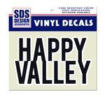 Block Happy Valley Decal
