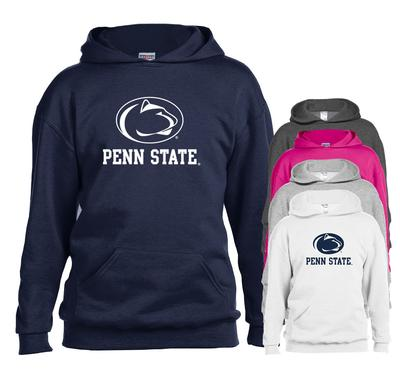 The Family Clothesline - Penn State Youth Logo Block Hooded Sweatshirt